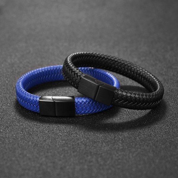 Men Jewelry Braided Leather Bracelet