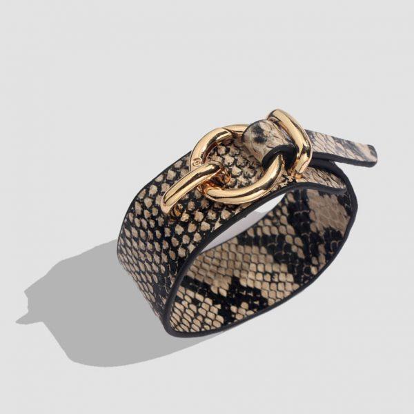 Leopard Bangle Bracelets Vintage Leather Bracelet