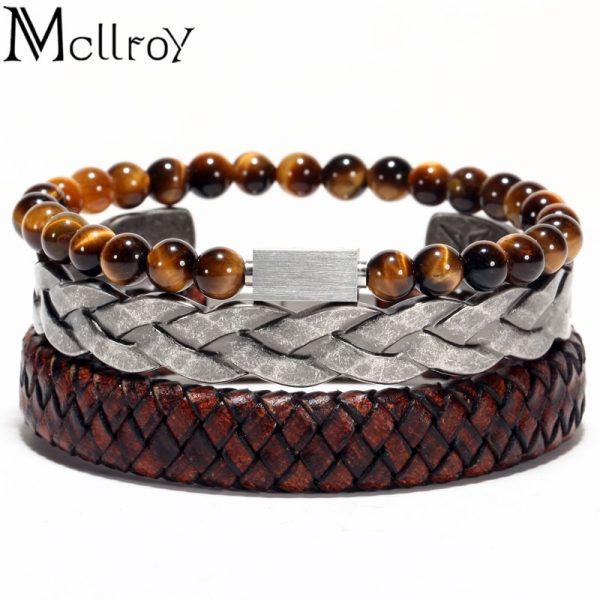 Men Bangles Bracelet Leather Fashion Bangle
