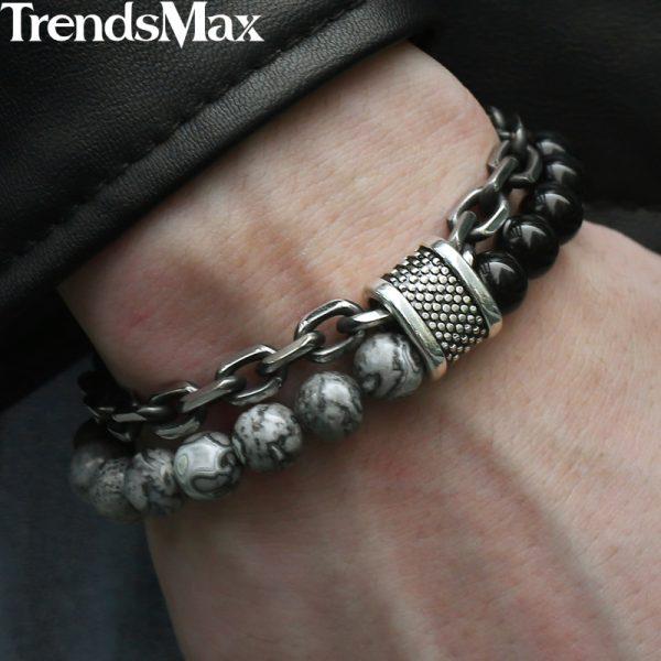Beaded Bracelet Stainless Steel Bracelets