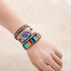 Chakra Bracelets Jewelry Leather Wrap Bracelet