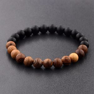 Natural Wood Beads Bracelets Yoga Bracelet