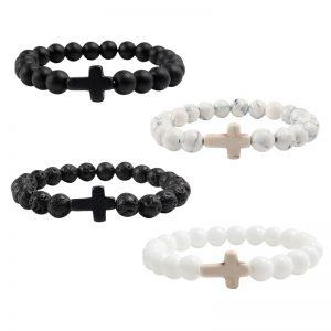 Natural Stone Bracelet Lava Matte Beaded Bracelets