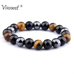 Tiger Eye Beads Bracelets Men Women Jewelry