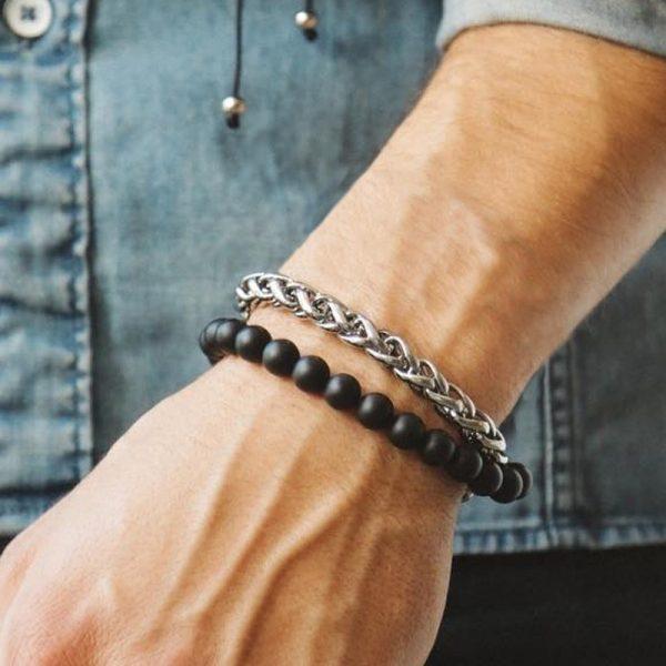 Fashion Men Bracelet Stainless Steel Chain