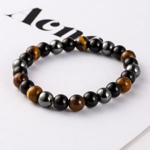 Hematite Stone Wrap Buddha Bracelets