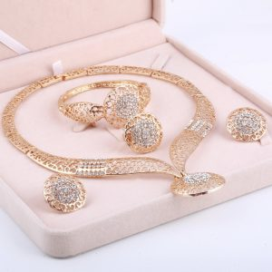 Dubai Gold Jewelry Nigerian Wedding Bridal Jewelry