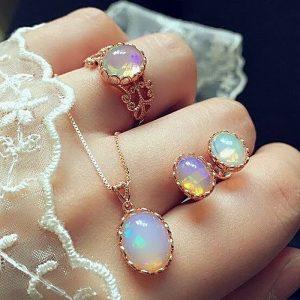 Opal Jewelry Sets Bohemia Wedding Jewelry