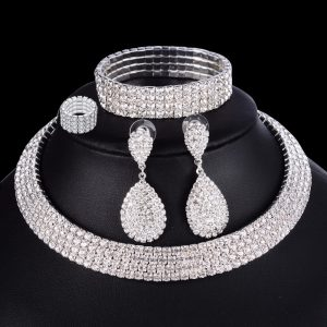 Luxury Wedding Bridal Jewelry Necklace Bracelet