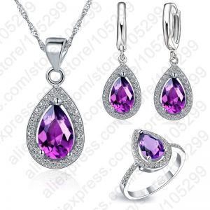 Bridal Jewelry Sets Water Drop Cubic Zirconia