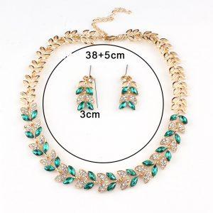 Wedding Jewelry Crystal Necklace Earrings