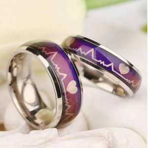 Fashion Mood Ring Stainless Steel Wedding Rings