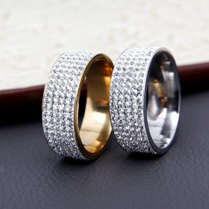 Crystal Wedding Rings Rhinestone Ring