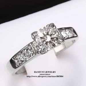 Classical Cubic Zirconia Forever Wedding Rings