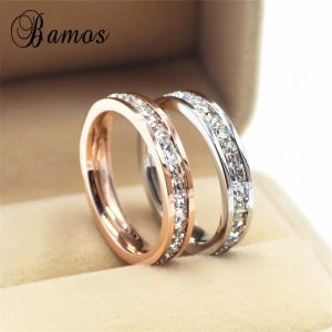 Girls Geometric Ring Wedding Engagement Rings