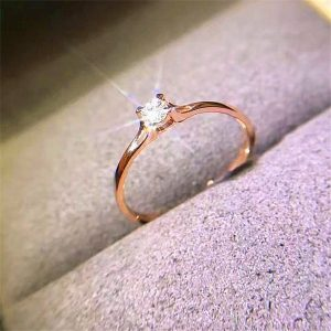 Crystal Zircon Stone Ring Wedding Engagement Rings