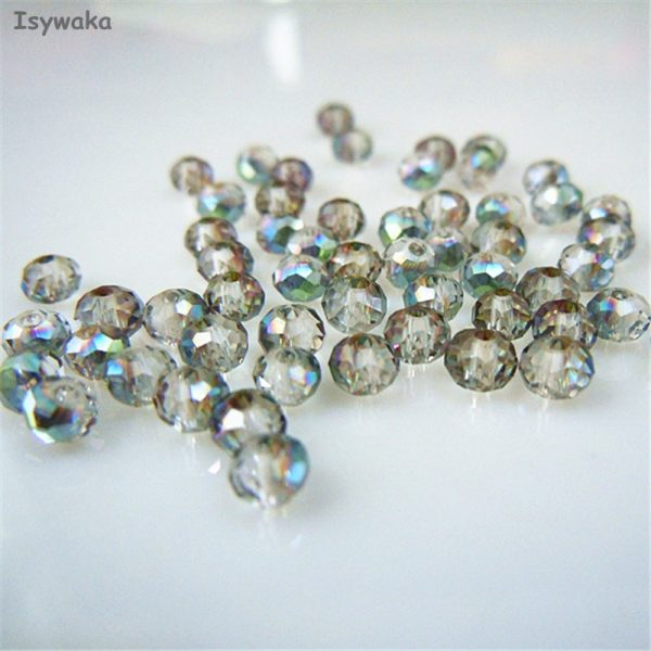 4mm One Full Strand AB Turquoise Crystal Glass Faceted Rondelle Beads 145pcs