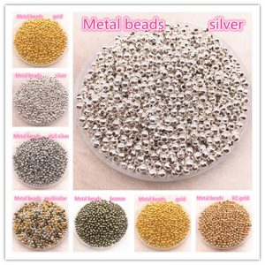 Jewelry Metal Beads Smooth Ball Spacer Bead