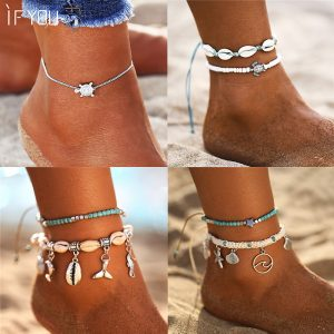 Bohemia Sea Turtles Anklet Jewelry