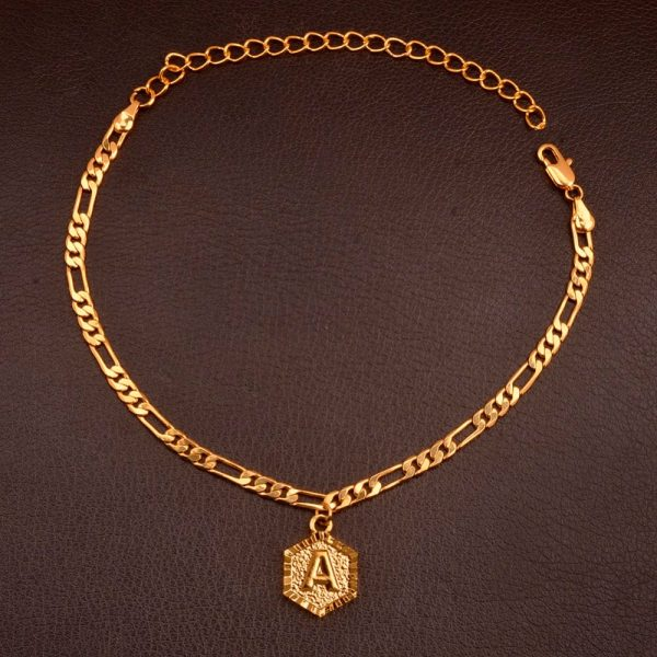 A-Z Initial Letter Anklet Alphabet Jewelry