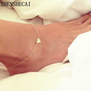 Heart Anklets Crochet Sandals Foot Jewelry
