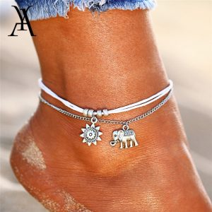 Vintage Multiple Layers Anklets Foot Jewelry
