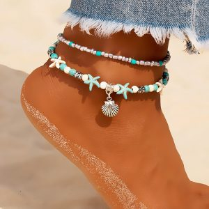 Vintage Shell Beads Anklets Leg Bracelet
