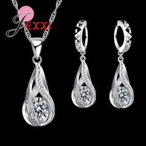 Water Drop CZ Jewelry Sets Wedding Jewelry