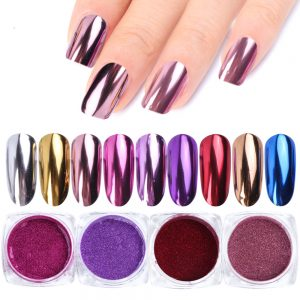 Nail Mirror Glitter Powder UV Gel Polishing