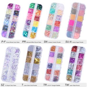 Nail Glitter Sequin Mixed Mirror