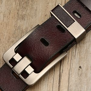 Leather Belt Luxury Buckle Belts