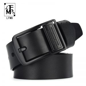 Leather Belt Men Luxury Strap Belts