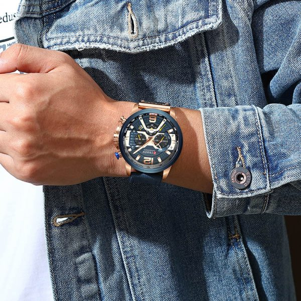 Men Watches Leather Sport Watch