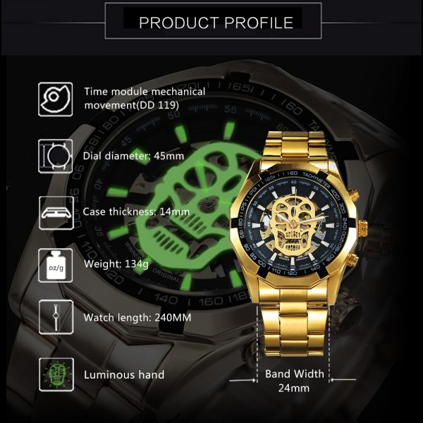 Automatic Watch Skeleton Skull Watches