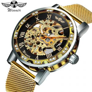 Mechanical Men Watches Skeleton Dial