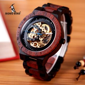 Wooden Mechanical Watch Men
