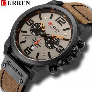 Sport Wristwatch Leather Quartz Watch