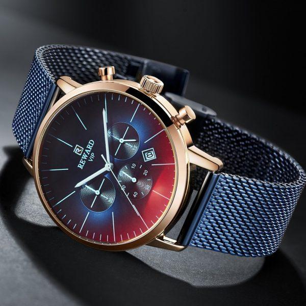 Bright Glass Watch Men Wrist Watch