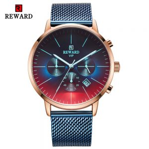 Bright Glass Watch Men Wrist Watch