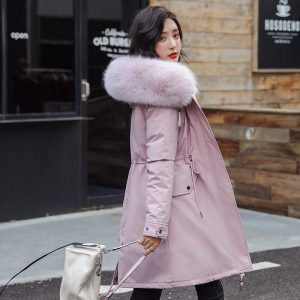 Winter Long Jacket Faux Fur Coats