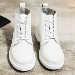Leather Ankle Boots Motorcycle Boots