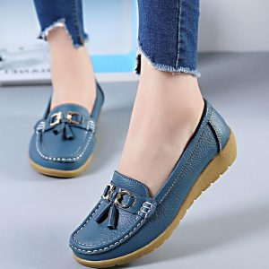 Women Shoes Leather Flats