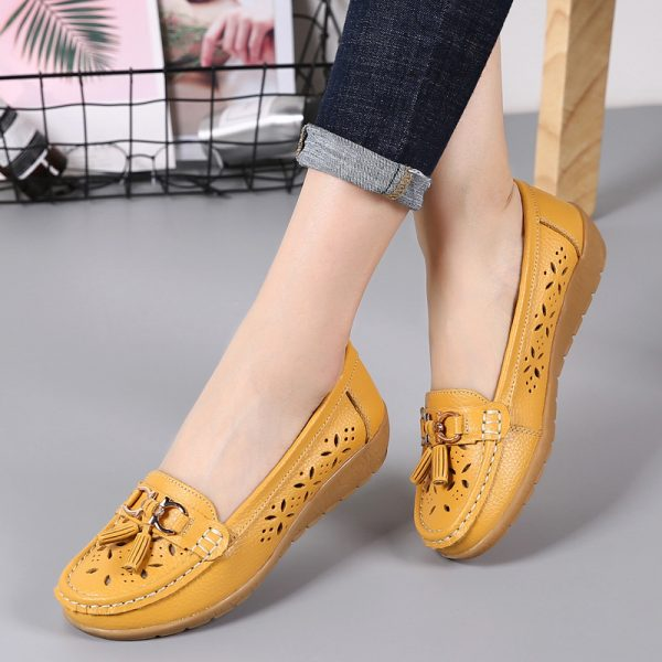 Women Flats Genuine Leather Shoes