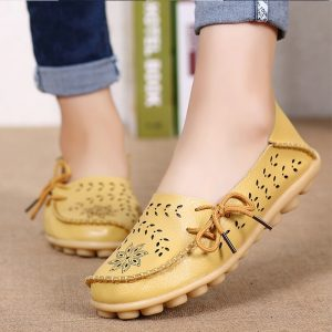 Women Flats Shoes Leather Flats