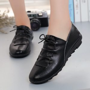 Women Shoes Leather Flats Shoes