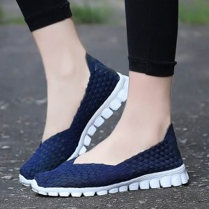Casual Flats Shoes Woven Shoes