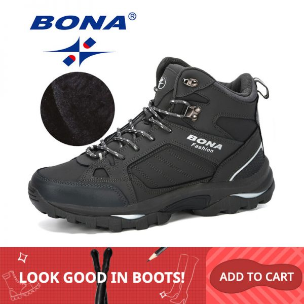 Men Boots Anti-Skidding Leather Shoes