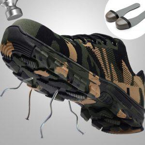 Work Boots Cap Shoes Men