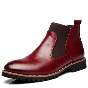 Leather Chelsea Boots Men Shoes