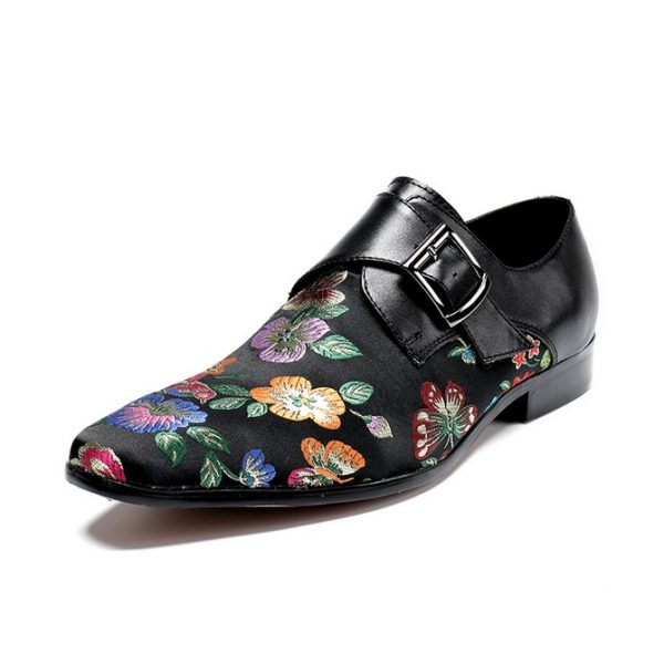 Flower Pattern Fashion Dress Shoes